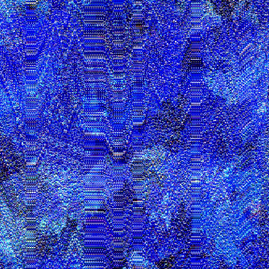 Mathieu Merlet Briand, #Blue-Screen, 2018.